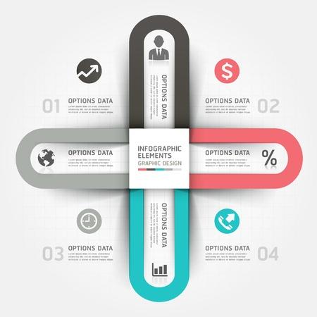 spruchband: Moderne Business-Kreis Origami-Stil Optionen Banner. Abbildung. kann für die Workflow-Layout, Grafik, Anzahl Optionen, step up Optionen, Webdesign, Infografiken verwendet werden.