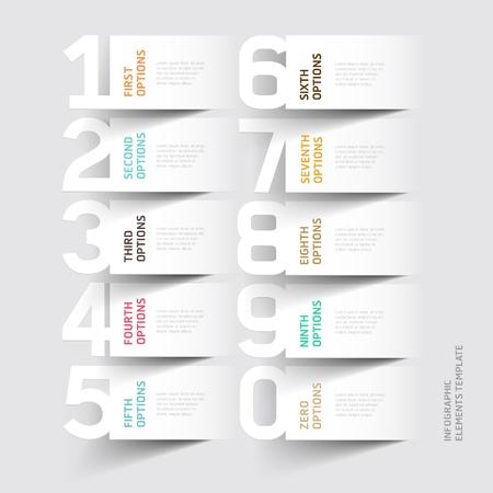 Resumen infografía número de la plantilla de opciones. ilustración. se puede utilizar para el diseño del flujo de trabajo, diagrama, las opciones de paso de negocio, bandera, diseño de páginas web Foto de archivo - 20859152
