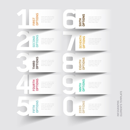 pesta�as: Resumen infograf�a n�mero de la plantilla de opciones. ilustraci�n. se puede utilizar para el dise�o del flujo de trabajo, diagrama, las opciones de paso de negocio, bandera, dise�o de p�ginas web