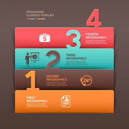 Abstract business infographics number options template illustration  can be used for workflow layout, diagram, business step options, banner, web design Vector