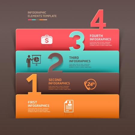 bank manager: Resumen de negocios infograf�a n�mero opciones ilustraci�n plantilla se puede utilizar para el dise�o del flujo de trabajo, diagrama, las opciones de paso de negocio, bandera, dise�o de p�ginas web Vectores