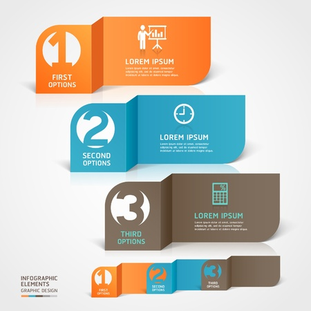 artistic font: Modern business paper cut infographics element   illustration  can be used for workflow layout, diagram, business step options, banner, web design, number template