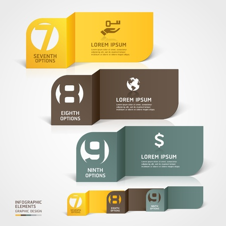 option key: Modern business paper cut infographics number template illustration  can be used for workflow layout, diagram, business step options, banner, web design
