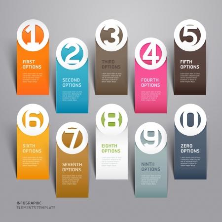 Abstracte zakelijke papier gesneden infographics nummer sjabloon illustratie kan worden gebruikt voor de werkstroom layout, diagram, zakelijke stap opties, banner, webdesign Stock Illustratie