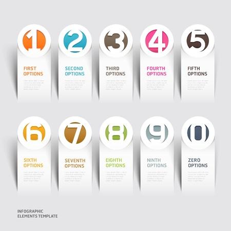Papel moderno corte ilustración plantilla se puede utilizar para el diseño del flujo de trabajo, diagrama, las opciones de paso de negocio, bandera, diseño web, diseño de número, elemento de infografía Foto de archivo - 20859228