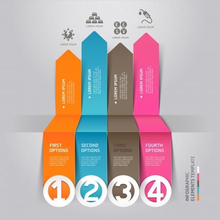 entwurf: Moderne Pfeil Infografiken Energieressource Origami-Stil Abbildung kann für Workflow-Layout, Grafik, Anzahl Optionen, step up Optionen, Web-Design verwendet werden