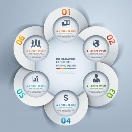diagram: Modern business circle origami style options banner  illustration  can be used for workflow layout, diagram, number options, step up options, web design, infographics