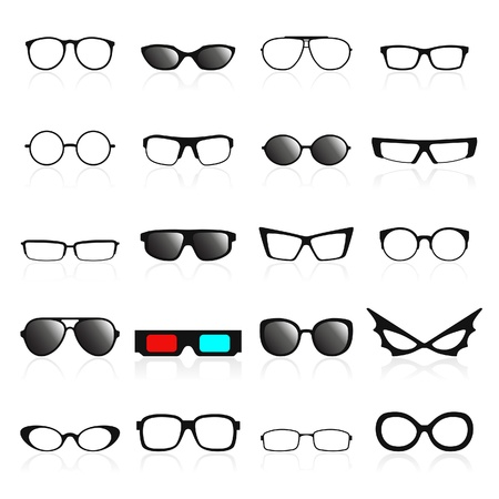Glasses frame icons. Vector illustration Stock Vector - 21601571