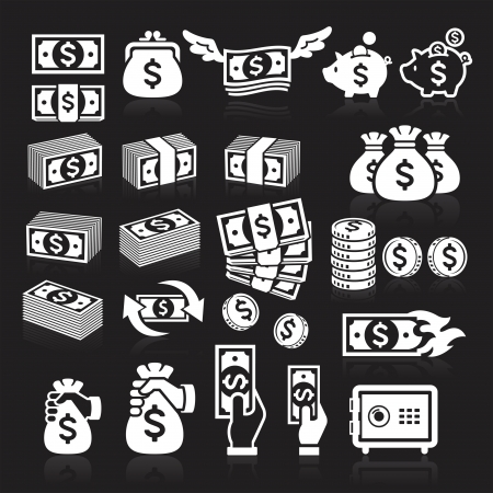 set of money: Set of money icons. Vector illustration Illustration