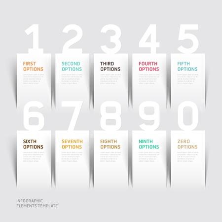 Moderne infographics aantal opties template.