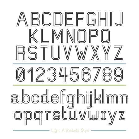 Alphabet Line stripes style. Vector illustration.