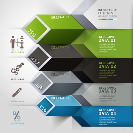 Abstract 3d infographics options. Vector