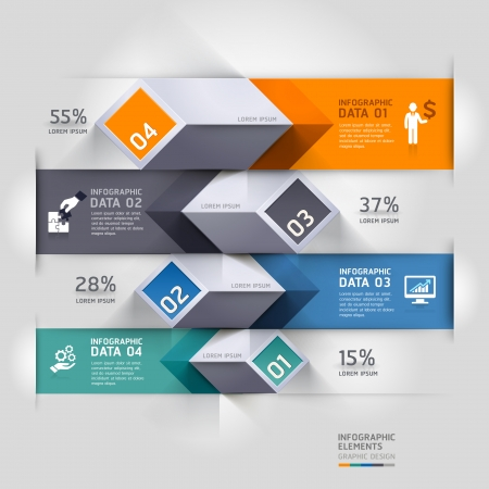 Abstract 3d diagram infographics options.