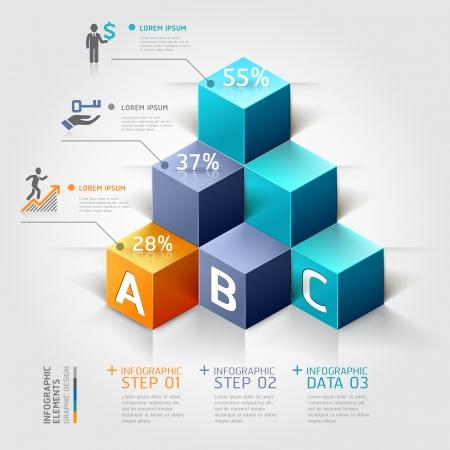 dinero: Opciones 3D escalera diagrama modernos negocios Steb.