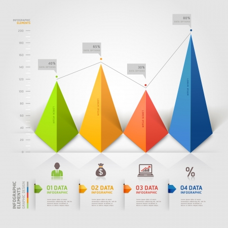 3d triangle infographics business Vector