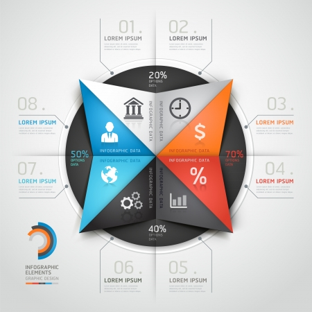 triangle: Modern infographics business triangle origami style.