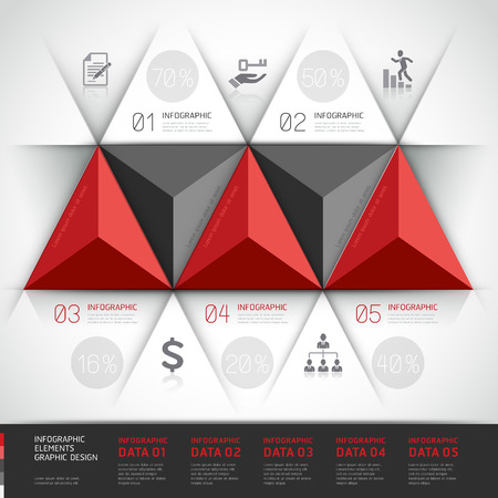 Modern 3d, infographics business triangle.p Vector