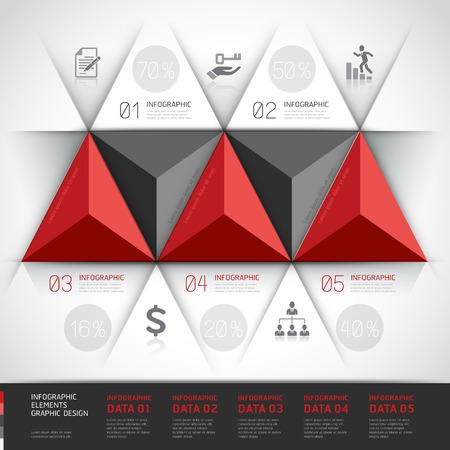 option key: Modern 3d, infographics business triangle.p
