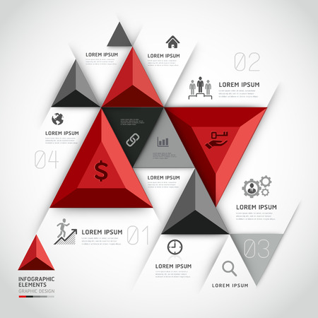 Modern 3d infographics business triangle.p Vector