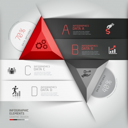 Modern 3d infographics business triangle. Vector
