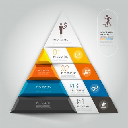 infochart: 3d staircase diagram modern business step options.