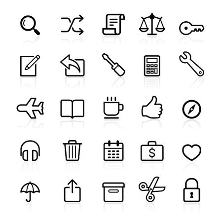 Business outline icons set 2. Vector illustration.