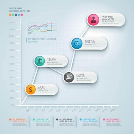 diagrama: Negocio infograf�a 3d diagrama. Ilustraci�n del vector. se puede utilizar para el dise�o del flujo de trabajo, bandera, opciones num�ricas, intensificar opciones, dise�o web, infograf�a. Vectores