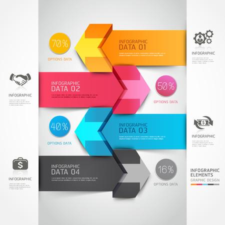 infografica: 3d passo freccia diagramma imprese scala. Illustrazione vettoriale. può essere utilizzato per il layout del flusso di lavoro, banner, opzioni di numero, intensificare le opzioni, web design, infografica. Vettoriali