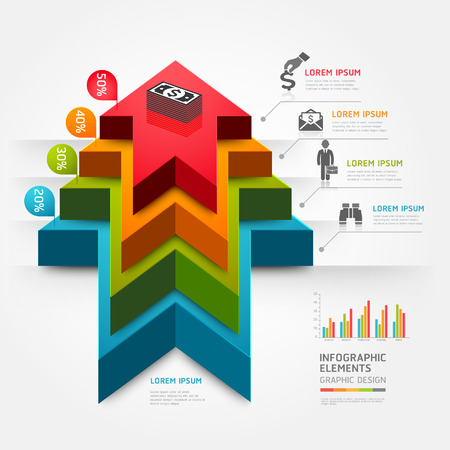 3d step up arrow staircase diagram business. Vector illustration. can be used for workflow layout, banner, number options, step up options, web design, infographics. Vector