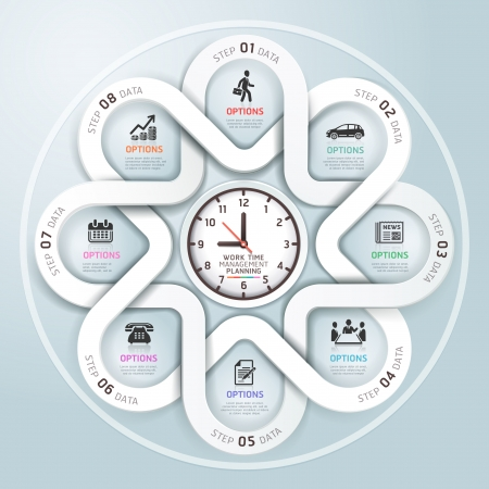 success: Infografía de negocio círculo estilo origami moderno. Ilustración del vector. se puede utilizar para el diseño del flujo de trabajo, bandera, diagrama, opciones numéricas, intensificar opciones, diseño de páginas web.