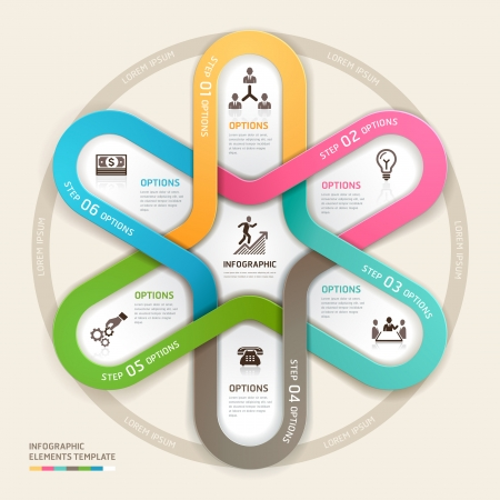 Business circle Infographics origami style. Vector illustration. can be used for workflow layout, banner, diagram, number options, step up options, web design. Vector