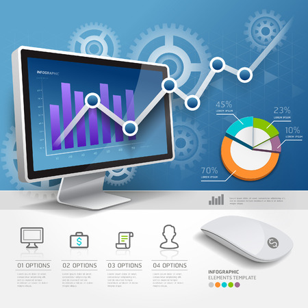 3d infografiky web design šablony. Vektorové ilustrace. lze použít pro uspořádání pracovního postupu, schéma banner, možnosti číslo, zvýšily možnosti. Ilustrace