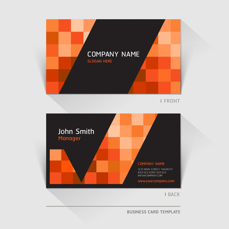 Business card abstract background. Vector illustration. Ilustração
