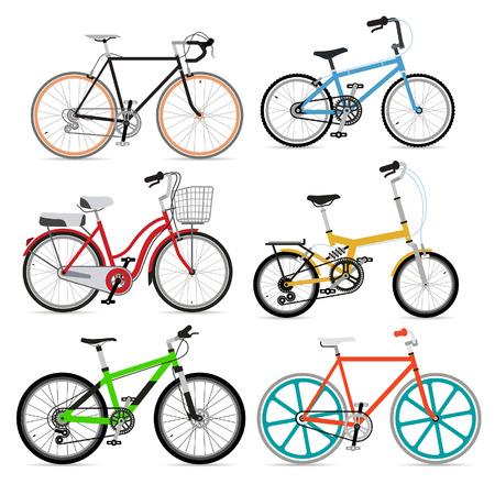 自転車のセットです。ベクトル イラスト。