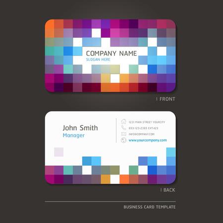 card background: Biglietto da visita sfondo astratto. Illustrazione vettoriale.