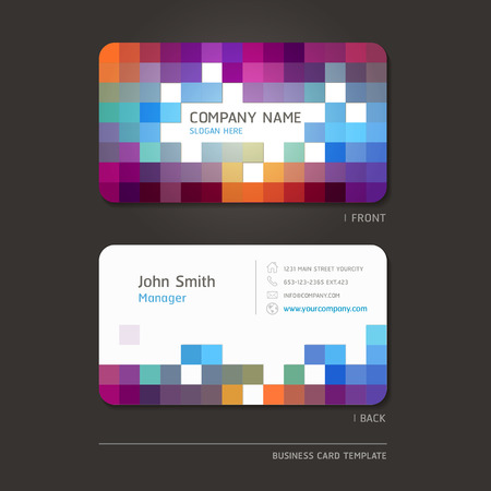 blank brochure: Business card abstract background. Vector illustration. Illustration