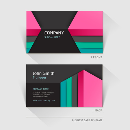 Business card abstract background. Vector illustration. Illustration