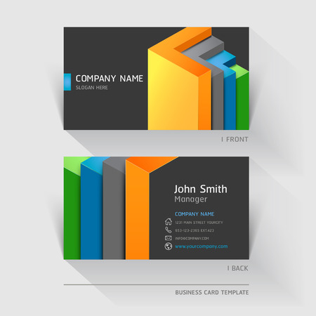 colours: Business card abstract background. Vector illustration. Illustration