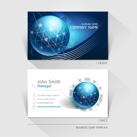 technology background: Business card technology background. Vector illustration.