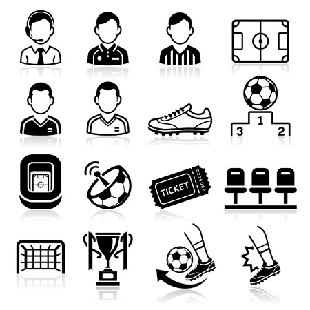 persons: Soccer icons. Vector illustration