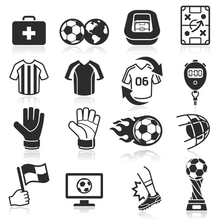 footballs: Soccer icons. Vector illustration