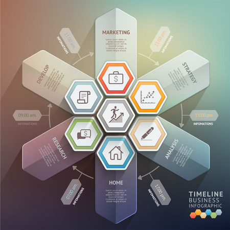 3d arrow timeline infographics. Vector illustration. can be used for workflow layout, banner, diagram, number options, step up options, web design. Vector