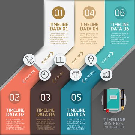 sites web: Mod�le infographique Timeline. Vector illustration. peut �tre utilis� pour flux de travail mise en page, banni�re, diagramme, les options num�riques, web design. Illustration