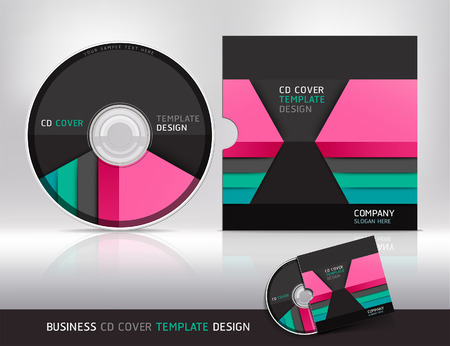 Cd cover design template. Abstract background Vector illustration. Vector