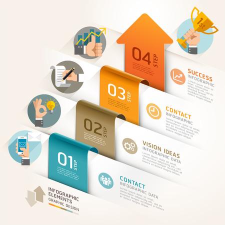 Business marketing pijl tijdlijn sjabloon. Vector illustratie. kan gebruikt worden voor workflow lay-out, banner, diagram, het aantal opties, webdesign, infographic sjabloon.
