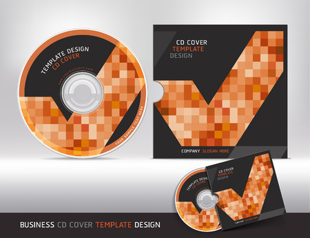 Cd cover design template. Abstract background Vector illustration. Illustration