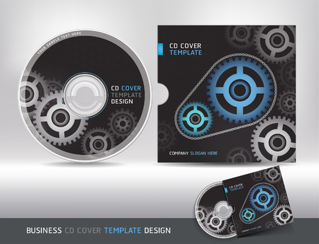 cover concept: Cd cover design template. Abstract background Vector illustration. Illustration
