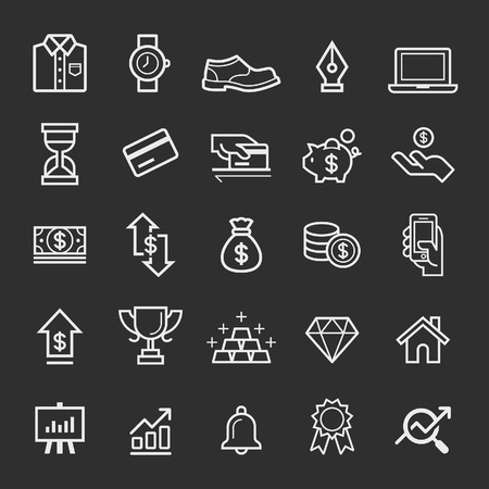 Business element icons. Vector illustration Stock fotó - 37057898