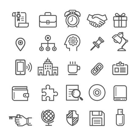 Iconos del elemento de Negocios. Ilustración vectorial