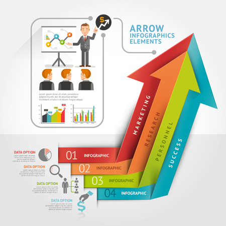 circle abstract: Abstract arrow infographics template. Vector illustration. can be used for workflow layout, diagram, number options, business step options, banner, web design Illustration